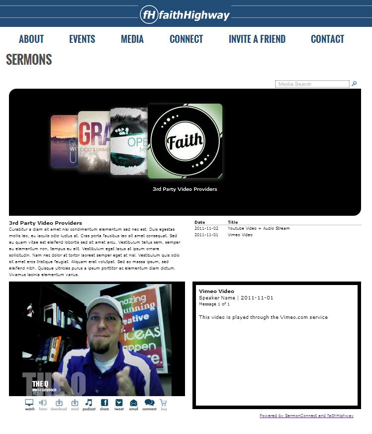 faithHighway Demo media player